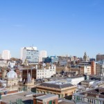 Glasgow cityscape showing office space