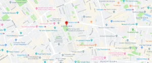 Holborn on a Google Map