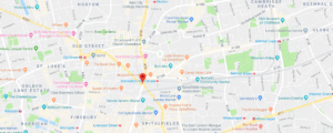 Showing Shoreditch on a Google map